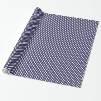 Navy and White Gingham Medium Wrapping Paper