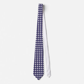 Navy and White Gingham Neck Tie