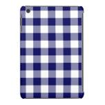 Navy and White Gingham Pattern iPad Mini Retina Case