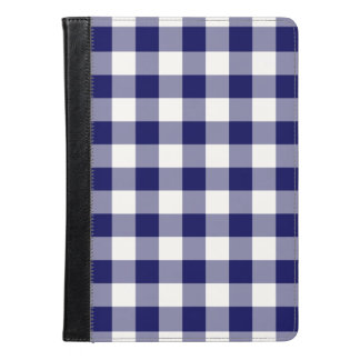 Navy and White Gingham Pattern iPad Air Case
