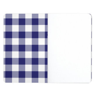 Navy and White Gingham Pattern Journal