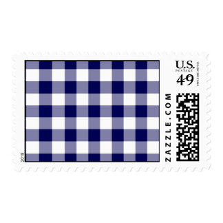 Navy and White Gingham Pattern – Medium Postage