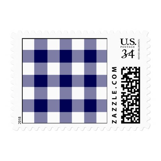 Navy and White Gingham Pattern – Small Stamps