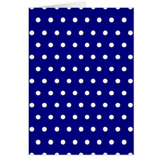 Navy and White Polka Dots Card