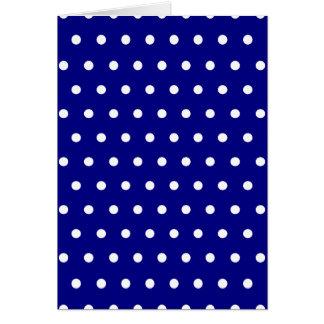Navy and White Polka Dots Greeting Card