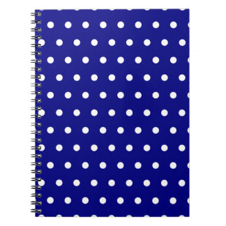 Navy and White Polka Dots Notebook