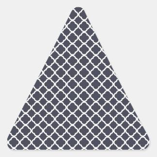 Navy and White Quatrefoil Triangle Sticker