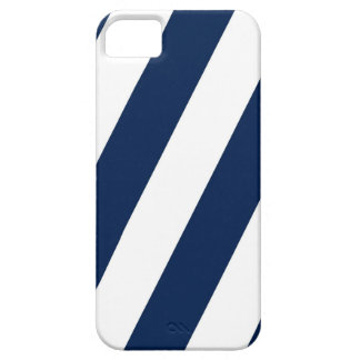 Navy and White Stripes iPhone 5 Case