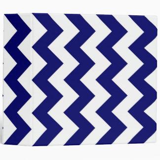 Navy and White Zigzag 3 Ring Binder