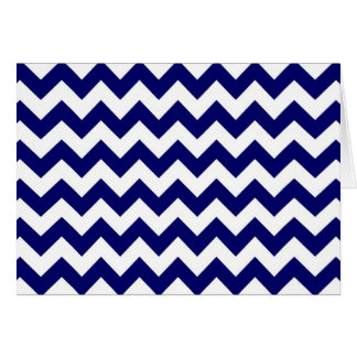 Navy and White Zigzag Card