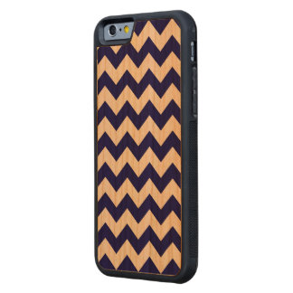 Navy and White Zigzag Carved® Cherry iPhone 6 Bumper Case