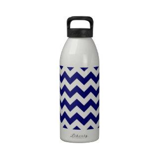Navy and White Zigzag Drinking Bottles