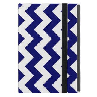 Navy and White Zigzag iPad Mini Covers