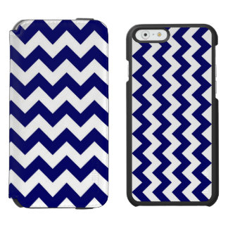Navy and White Zigzag iPhone 6/6s Wallet Case