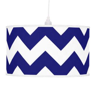 Navy and White Zigzag Pendant Lamp