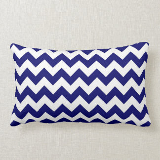 Navy and White Zigzag Pillows