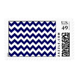 Navy and White Zigzag Stamps