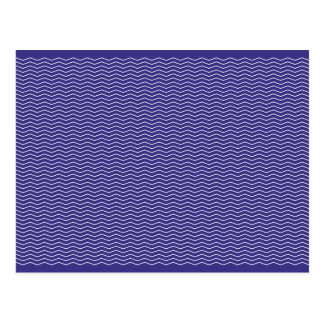 Navy and White ZigZag Postcard