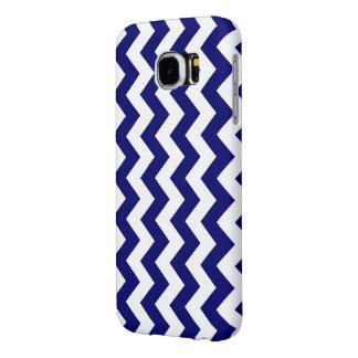 Navy and White Zigzag Samsung Galaxy S6 Case