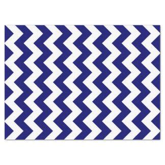 Navy and White Zigzag Tissue Paper