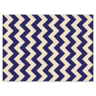 "Navy and White Zigzag Tissue Paper 17"" X 23"" Tissue Paper"