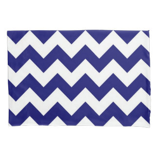 Navy and White Zigzags Pillowcase