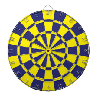 Navy And Yellow Dartboard With Darts