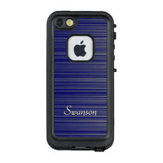 Navy and Yellow Gradient Line Pattern LifeProof FRĒ iPhone SE/5/5s Case