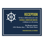 "Navy and Yellow Nautical Wedding Reception Card 3.5"" X 5"" Invitation Card"