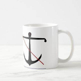 Navy 'Anti-Hipster' Anchor Mug/Beyond Gravity Coffee Mug