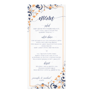 Navy + *ANY COLOR* Chic Bouquet Wedding Menu