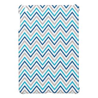 Navy Aqua Grey Chevron Cases Cover For The iPad Mini