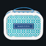 """Navy &amp; Aqua Trellis 