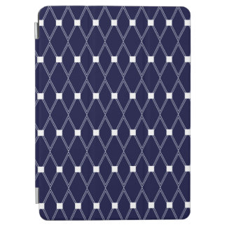 Navy Argyle Lattice iPad Air Cover