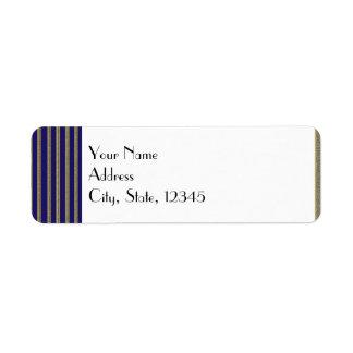 Navy Art Deco Posh Wedding Label Return Address Label