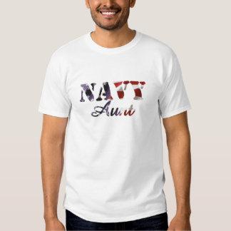 Navy Aunt American Flag T-shirt