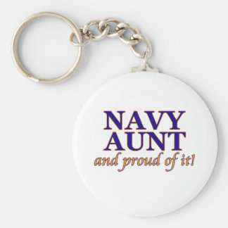 Navy Aunt and Proud of It Keychain