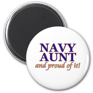 Navy Aunt and Proud of It 2 Inch Round Magnet