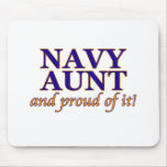 Navy Aunt and Proud of It Mouse Pad