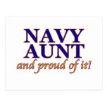 Navy Aunt and Proud of It Postcard