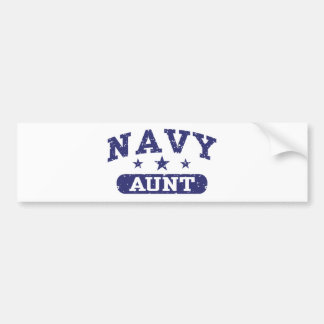 Navy Aunt Bumper Sticker