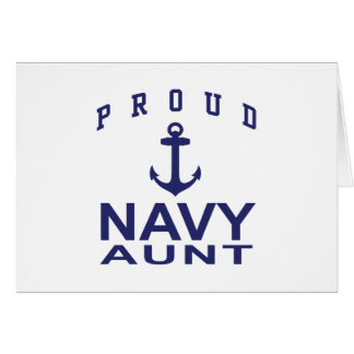 Navy Aunt Card