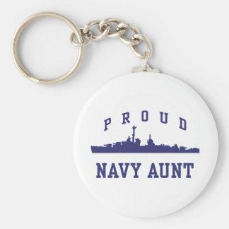 Navy Aunt Key Chain