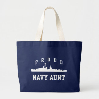 Navy Aunt Large Tote Bag