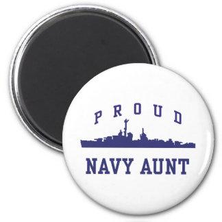 Navy Aunt 2 Inch Round Magnet