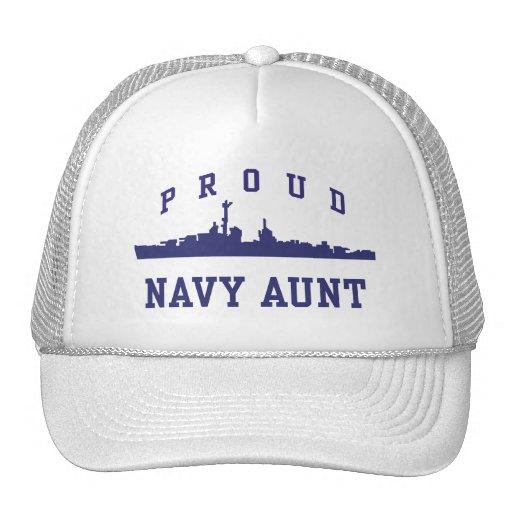 Navy Aunt Mesh Hats
