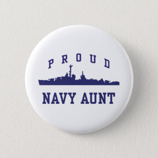 Navy Aunt Pinback Button