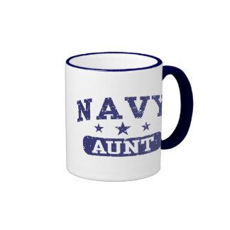 Navy Aunt Ringer Mug