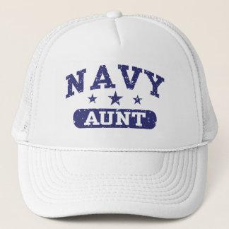Navy Aunt Trucker Hat