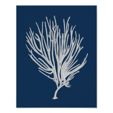 Beach Themed Navy Beach Decor Sea Coral Framed wall art #12